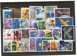 Lots Timbres Oblitérés Suisses 2000-2001 - Gebraucht