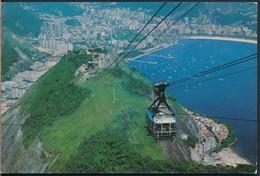 °°° 19993 - BRASIL - RIO DE JANEIRO - CAMINO AEREO DO PAO DE ACUCAR - 1973 With Stamps °°° - Rio De Janeiro