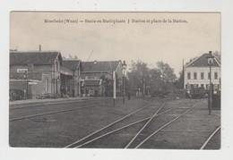 Moerbeke-Waas  Statie En Statieplaats  Station Et Place De La Station - Moerbeke-Waas
