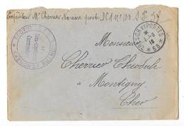 GUERRE 1914-18 Enveloppe Trésor Et Postes Cachet Militaire Section De Tir Contre Aéronefs - Franchise Militaire (timbres)