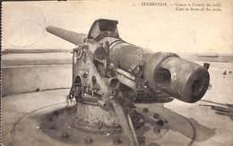 Zeebrugge - Canon à L'entrée Du Môle - Gun In Front Of The Mole (1923) - Zeebrugge