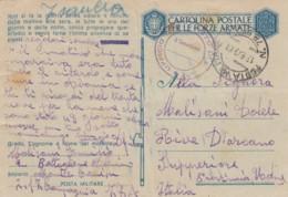 Italien Postkarte Feldpost Zensur 1940-45 Tekst Musolini - 1900-44 Victor Emmanuel III