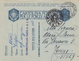 Italien Postkarte Feldpost Zensur 1940-45 Tekst Vittorio Emanuele - 1900-44 Victor Emmanuel III