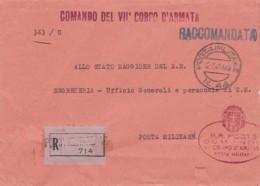 Italien Brief Feldpost Zensur 1940-45 - 1900-44 Victor Emmanuel III