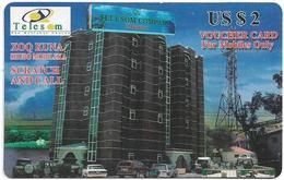 Somaliland - Telesom - Telsom Hargeisha, Building, 2$, Used - Somalië