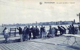 Blankenberge -  Blankenberghe -  Une Partie De Pêche à L'estacade (animée) - Blankenberge