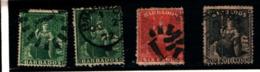 93755 ) BARBADOS LOTTO FRANCOBOLLI -FIGURA ALLEGORICA  USATO - Barbados (...-1966)