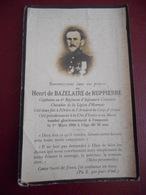 Meurthe Et Moselle - Image Pieuse - Deces De Henri De Bazelaire De Ruppiere Le 1er Mars 1916 - Devotion Images