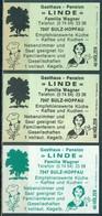"""3 Alte Gasthausetiketten Sortiert Nach Ort: Sulz - Hopfau """"Linde"""" Und Alte Postleitzahl: 7247 - Boites D'allumettes - Etiquettes"""