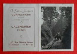 Calendrier De Poche Publicité 1950 - Confections A Saint-Jacques - Etterbeek - Calendarios