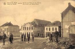 Menen Menin Ruines - Marché Aux Porcs Et Rue D'Ypres (animatie, Uitg. O. Pille & J. Deleu) - Menen