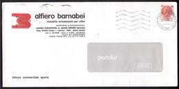 IK49   Storia Postale 1983 - Siracusana £.350 Isolato In Tariffa Fattura Comm.le Aperta - 1981-90: Marcofilie