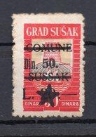 1940s CROATIA, SUSAK, 50 DIN. MUNICIPALITY REVENUE STAMPS, OVERPRINT, RED - 1945-1992 Socialistische Federale Republiek Joegoslavië