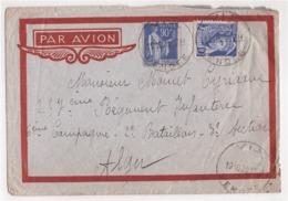 ALGERIE - Lettre Par Avion De Alger Pour Vix  Oblitération Du 19/10/1939 - Timbres