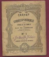 240320C - Carnet De Correspondance école Famille AP DE LAMARCHE Circa 1900 Grande Caisse D'Epargne Banque éducation - Livres, BD, Revues
