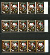 Iraq, 1976, Army Day, Military, MNH Imperforated Strip Of 5, Michel 845-847 - Iraq
