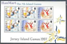 Jersey 1997 Mi Blatt 24 MNH ( ZE3 JRSh-blatt24 ) - Gymnastik