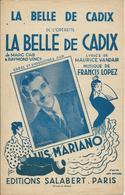 Partition De Luis MARIANO Francis LOPEZ - La Belle De Cadix - Partituras