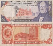 Venezuela / 50 Bolivares / 1988 / P-65(b) / VF - Venezuela