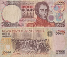 Venezuela / 5000 Bolivares / 1998 / P-78(c) / VF - Venezuela