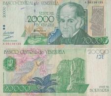 Venezuela / 20000 Bolivares / 1998 / P-82(a) / VF - Venezuela