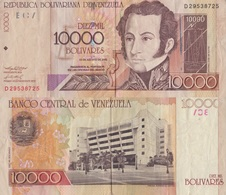 Venezuela / 10000 Bolivares / 2002 / P-85(c) / VF - Venezuela