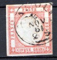 NAPLES (Province Italienne) - 1861 - N° 14 - 5 G. Rouge - (Victor Emmanuel II) - Naples