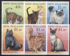Neuseeland 1998 Katzen Chinesisches Neujahr Jahr Des Tigers 1651/56 Postfrisch - Neuseeland