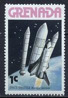 Espace 1978 Grenade - Grenada Y&T N°785 - Michel N°890 *** - 1c Largage Des Boosters De La Navette - Südamerika