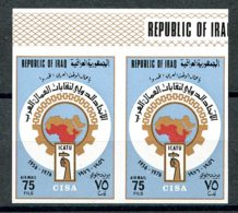 Iraq, 1976, Arab Trade Union, MNH Imperforated Pair, Michel 859 - Iraq