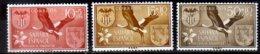 1958 Spanish Sahara Help For The Flood Vitims At Valencia Storks Flying White Stork MiNr. 177 - 179 MNH See Description - Cigognes & échassiers
