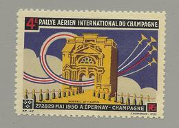 51 EPERNAY  Vignette 4,7 Cm X 3,3 Cm  Aviation  Rallye Aérien  Mai 1950 - Collections