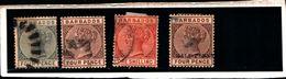 93758 ) BARBADOS 1882-86-REGINA VITTORIA 2.5 P. AZZURRO- MLH* - Barbados (...-1966)