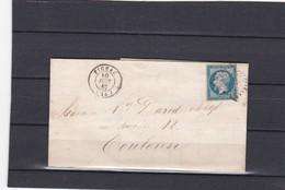 FIGEAC  ( LOT  )  PC 1157-  LAC  + NAPOLEON  N° 14 B  Pour TOULOUSE  - 10 Juin 1862 - REF 13712 - 1877-1920: Période Semi Moderne