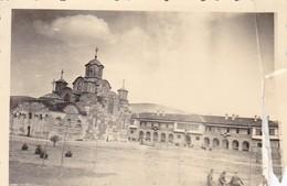 Foto Deutsche Soldaten Vor Kirche In Bulgarien - 2. WK - 8*5,5cm  (48448) - Krieg, Militär