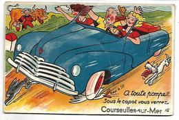 A Toute Pompe !!... Sous Le Capot Vous Verrez COURSEULLES SUR MER  - CARTE A SYSTEME - Courseulles-sur-Mer