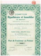 Titre Ancien - Comptoir Hypothécaire Et Immobilier Du Brabant - Société Anonyme - Titre De 1924 - Banque & Assurance