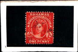 93767 ) BARBADOS 1863-REGINA VITTORIA 1 P. CARMINIO N.5-USATO DENT .12.5 - Bahamas (...-1973)