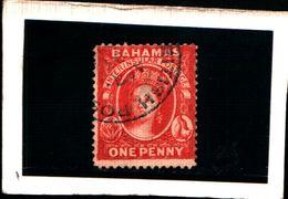93768 ) BARBADOS 1882-REGINA VITTORIA 1 P. CARMINIO N.12-USATO DENT .14 - Bahamas (...-1973)