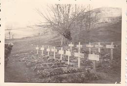 Foto Deutsche Soldatengräber - Soldatenfriedhof - 2. WK - 8,5*5,5cm  (48452) - Krieg, Militär