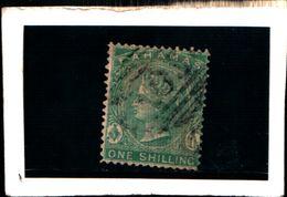93770 ) BARBADOS 1882-REGINA VITTORIA 1 S. VERMIGLIO N.16-USATO DENT .14 - Bahamas (...-1973)