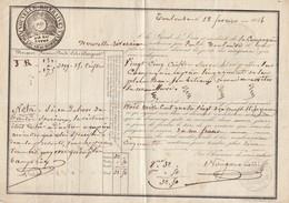 FRANCE. FEVR 1846. POSTE PRIVÉE. NOUVELLE RIVERAINE. TRANSPORTS ACCELERES PAR EAU ENTRE TOULOUSE ET BORDEAUX - Postmark Collection (Covers)