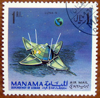 1968 MANAMA Spazio Satelliti Luna 9 - 1ri Usato - Manama