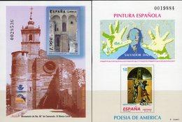 Imperf.EXPO 2004 Spanien 3150B+Bl.135SD ** 30€ Kunst Dali Carracedo Leon Hoja Pruebas Church Art Black Sheet Espana - Probe- Und Nachdrucke