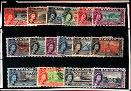 93778 ) BARBADOS 1954 ELISABETTA II SERIE USATA - Bahamas (...-1973)