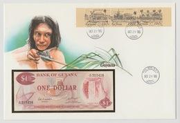 Bank Of Guyana Enveloppe1985 Bankbiljet 1 Dollar UNC - Guyana