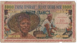 CA27 Billet De Guyane Française 1960 Contre-valeur De 10 NF/1000 Voir  French Guiana K229bis - Guyane Française