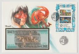 Banco Central Do Brasil Enveloppe1986 Bankbiljet 200 Cruzeiros 1984 UNC - Brésil