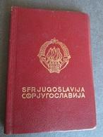 PASSPORT REISEPASS PASSAPORTO PASSEPORT YUGOSLAVIA 1966, MANY VISAS, FULLY FILLED - Documenti Storici