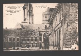 Lo / Loo - Place De L'Eglise Et L'Hôtel De Ville Bombardés - Lo-Reninge